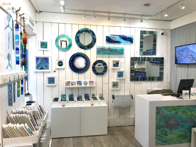 Image: Jo Downs Glass Gallery - Sail Lofts - St Ives