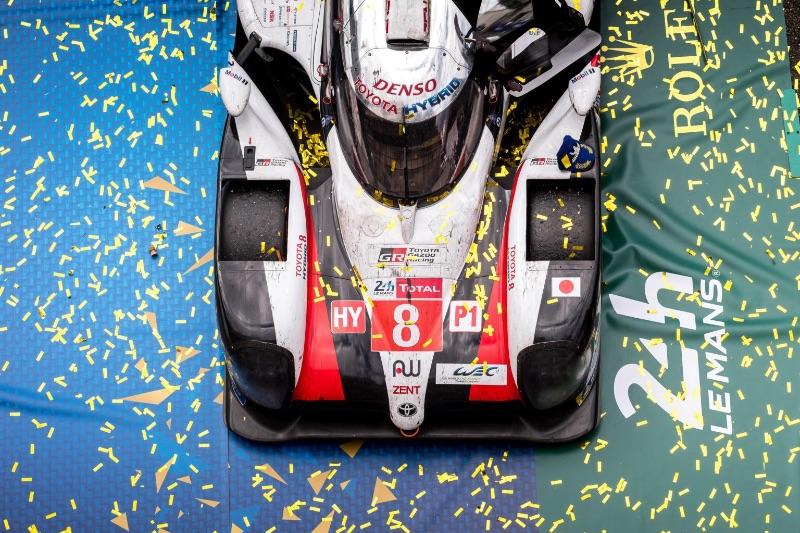 TOYOTA GAZOO RACING (JPN) CAR MODEL : TOYOTA TS050 - HYBRID TYRES : MICHELIN DRIVERS : Sébastien BUEMI (CHE) Kazuki NAKAJIMA (JPN) Fernando ALONSO (ESP), REMPORTE POUR MA SECONDE FOIS CONSÉCUTIVE LES 24 HEURES DU MANS© Dominique BREUGNOT (ACO) - Le Mans
